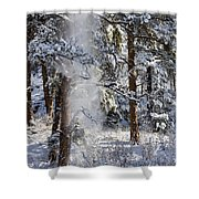 Pike National Forest Snowstorm Shower Curtain