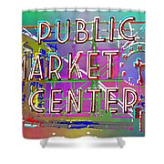 Pike Place Market 3 Shower Curtain