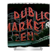 Pike Place Market Entrance 5 Shower Curtain