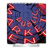 Pike Place Market Entrance Shower Curtain