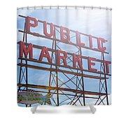 Pike Place Public Market Sign Shower Curtain