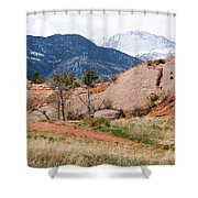 Pikes Peak From Red Rock Canyon Shower Curtain