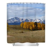 Pikes Peak In The Fall Shower Curtain
