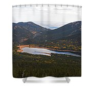 Pikes Peak Manitou Colorado Lake Shower Curtain