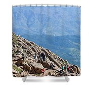 Pikes Peak Marathon And Ascent Shower Curtain