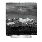 Pike's Peak Or Bust Shower Curtain