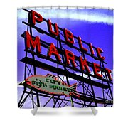Pike's Place Market Shower Curtain