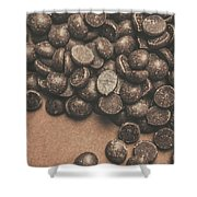 Pile Of Chocolate Chip Chunks Shower Curtain