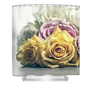 Pile Of Roses Shower Curtain