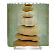 Pile Of Stones Shower Curtain