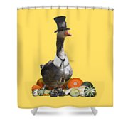 Pilgrim Goose Shower Curtain