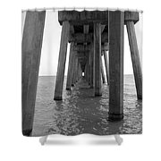 Black And White Pier Shower Curtain