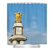 pillar for the 50th anniversary of India, Chennai, Tamil Nadu Shower Curtain