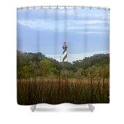 Pillar Of St. Augustine Shower Curtain