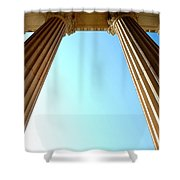 Pillars Of The Sky Shower Curtain