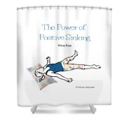 Pillow Pose Shower Curtain