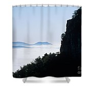 Pilot And Sauertown And Hanging Rock Mountains Shower Curtain