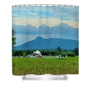 Pilot In The Clouds Shower Curtain