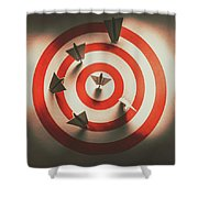 Pin Point Your Target Audience Shower Curtain