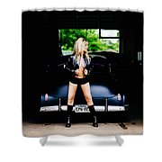 Pin Up #5 Shower Curtain