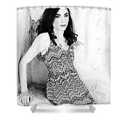 Pin Up Model Christina  Shower Curtain