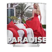 Pin Up Model Tatiana 3 Shower Curtain