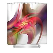 Pin Wheel 2 Shower Curtain