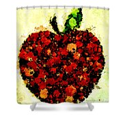 Pinatamiche Painting Crackle Art Shower Curtain