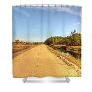 Pine Barrens Of New Jersey Cranberry Harvest Bogs  Shower Curtain