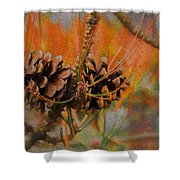 Pine Cone 2 Shower Curtain