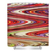 Pine Cone Flower Abstract Shower Curtain
