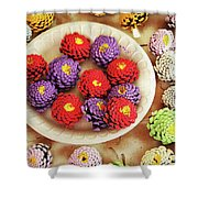 Pine Cone Flower Project Shower Curtain