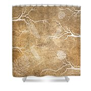 Pine Cone Shadows Shower Curtain