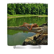 Pine Creek Afternoon Shower Curtain