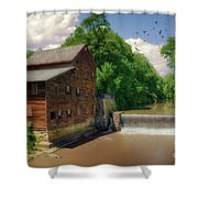 Pine Creek Gristmill Shower Curtain