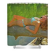 Pine Creek Summer Afternoon Shower Curtain