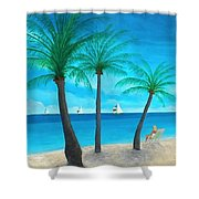 Pine Island Lady  Shower Curtain