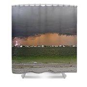 Pine Key Bolt Shower Curtain