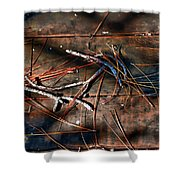 Pine Needles And Sticks Shower Curtain
