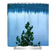 Pine On The River Shower Curtain