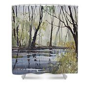 Pine River Reflections Shower Curtain