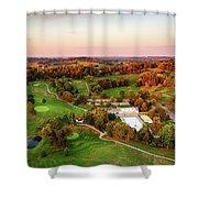 Pine Room Sunset Shower Curtain