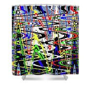 Pine Tree Abstract ,3448wt Shower Curtain