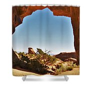Pine Tree Arch 1 Shower Curtain