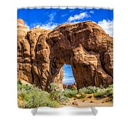 Pine Tree Arch Shower Curtain