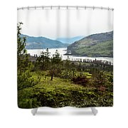 Pine Tree At Memaloose Overlook Shower Curtain