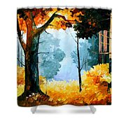 Pine Wood Shower Curtain