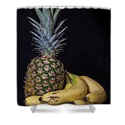 Pineapple And Bananas Shower Curtain
