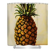 Pineapple Angel Shower Curtain by Shannon Grissom