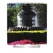 Pineapple Fountain Charleston Sc Shower Curtain